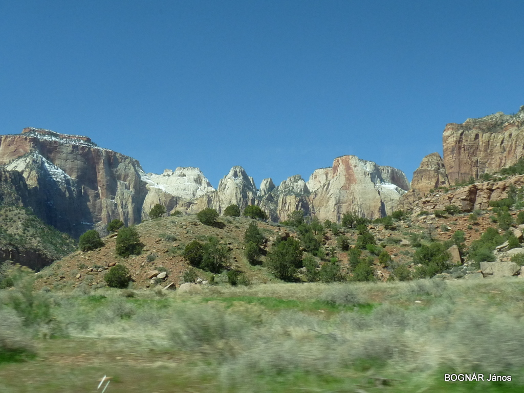 White cliffs in Zion Canyon
